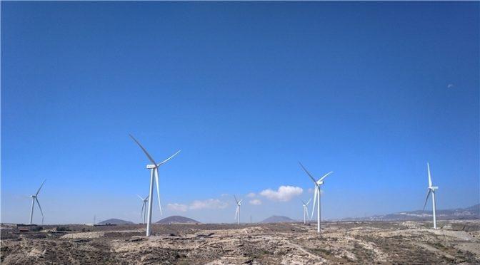 Iberdrola completa su primera central eólica en Canarias