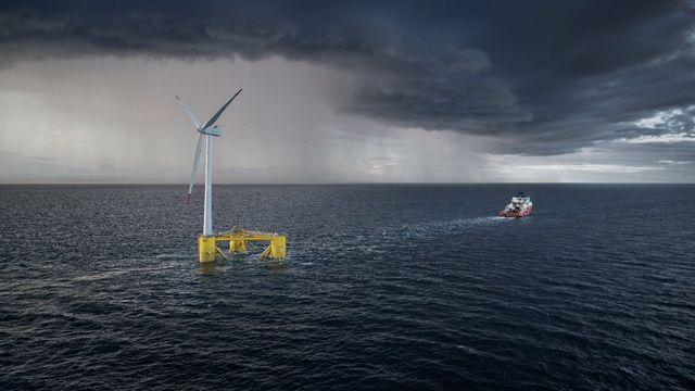 ACS estrena central eólica marina flotante