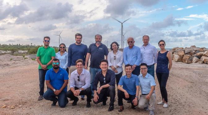 19 aerogeneradores Goldwind en la central eólica Morgado en Brasil