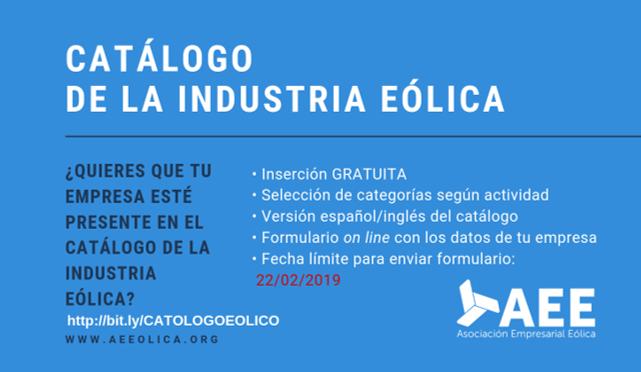 Participa en el 'Catálogo de la Industria Eólica Española'
