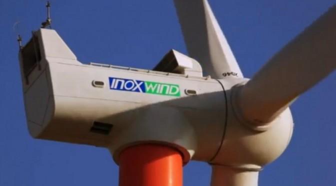 Inox Wind vende sus aerogeneradores para central eólica de Adani Green