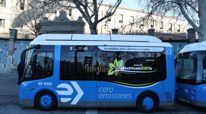 EMT renueva la flota de minibuses eléctricos del distrito de Centro