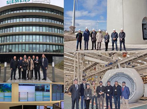 Representantes del Partido Popular y del IDAE visitan centros industriales de la eólica