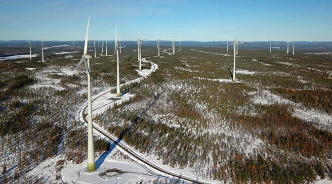 Energía eólica en Suiza, aerogeneradores E-92 de Enercon para un parque eólico