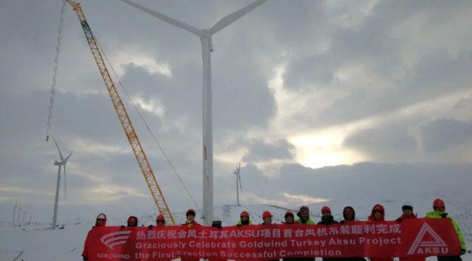Energía eólica en Turquía: aerogeneradores Goldwind para un parque eólico