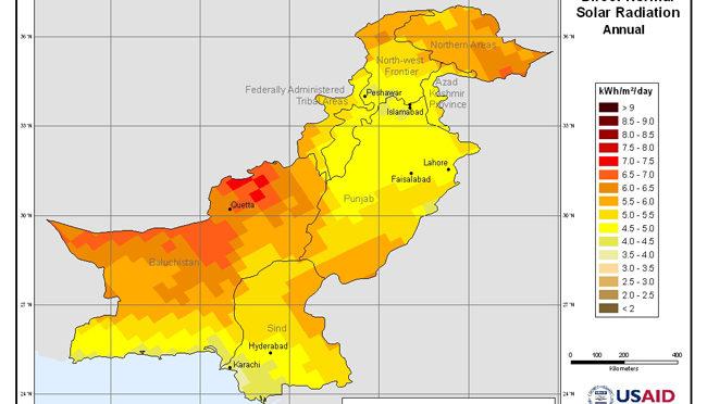 Pakistán puede generar 2,9 millones de MW de energía solar