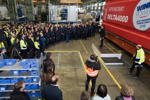 La eólica Nordex inicia la producción en serie de aerogeneradores en la gama Delta4000