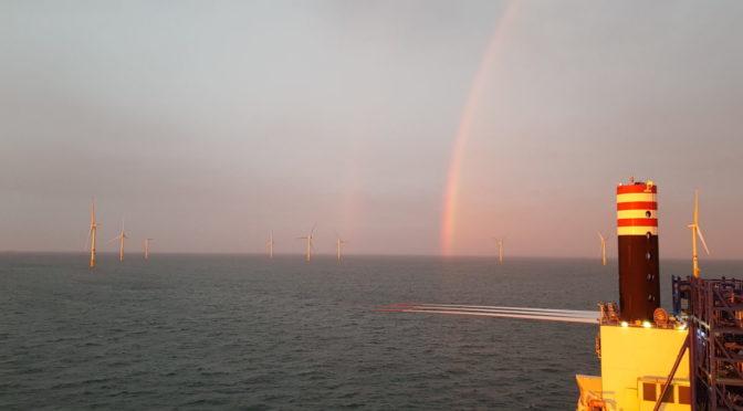 MHI Vestas instala aerogeneradores para la eólica marina en un tiempo récord