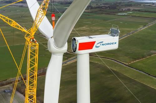 Nordex recibe el primer pedido de eólica para aerogeneradores Delta4000 en Estados Unidos