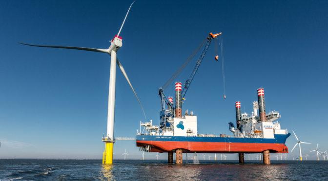 Siemens Gamesa instala en tiempo récord el parque eólico marino Arkona en Alemania