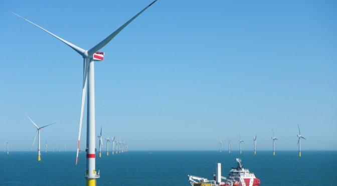 MHI Vestas suministra aerogeneradores a Ørsted para la eólica offshore en Alemania