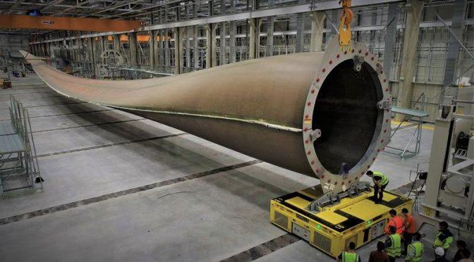 La eólica GE Renewable Energy contratará 200 empleados para su fábrica de palas de aerogeneradores en Cherbourg, Francia