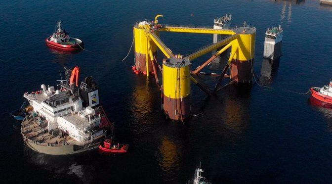 Navantia comienza la construcción de 20  jackets para un parque eólico marino en Escocia