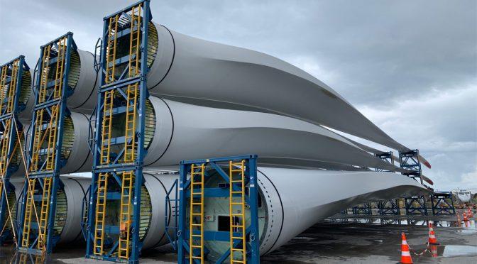 Eólica en Brasil, 2.000 palas eólicas de aerogeneradores enviadas en 2019 desde Pecém