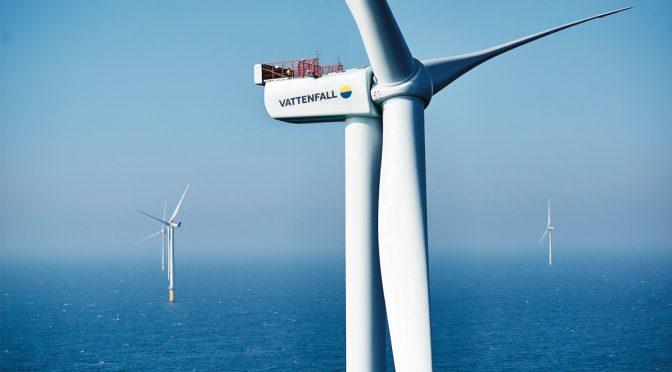 Vattenfall inaugura el mayor parque eólico marino de Escandinavia