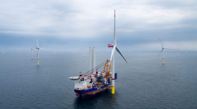 Aerogeneradores MHI Vestas para la energía eólica marina en Alemania