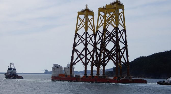 Navantia se consolida en la energía eólica marina con otros 62 jackets