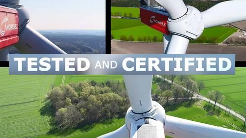 La empresa eólica Nordex certifica sus aerogeneradores N149/4.0-4.5