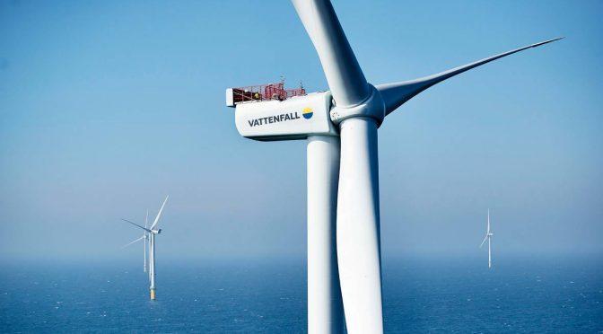 Eólica en Dinamarca: inauguran el parque eólico marino Horns Rev 3