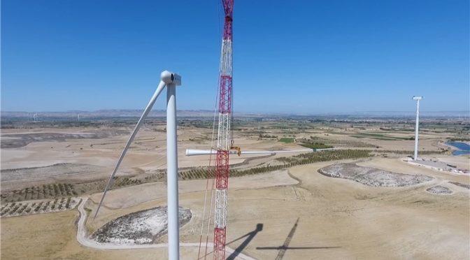 Iberdrola inicia la instalación de los aerogeneradores en el parque eólico El Pradillo