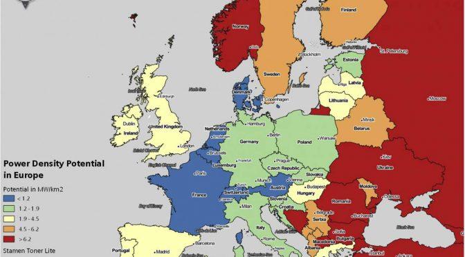 La eólica terrestre europea puede multiplicarse por 100