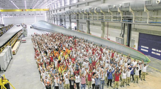 Ceará produce la pala eólica más grande jamás fabricada en el hemisferio sur