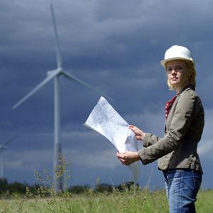 Mujer y energía eólica