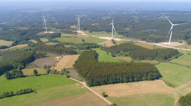 Eólica en Galicia: Naturgy monta los 54 aerogeneradores de seis parques eólicos
