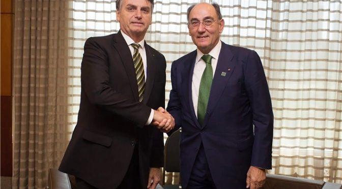 Galán a Bolsonaro: Iberdrola invertirá 6.600 millones de euros en Brasil hasta 2022