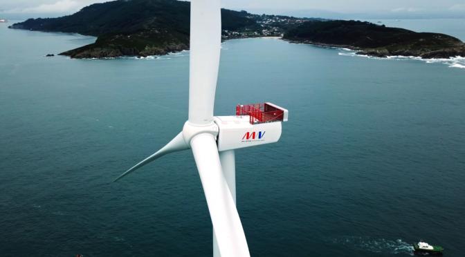 Eoliennes Floating du golfe du Lion (EFGL) selecciona la turbina eólica V164-10.0 MW de MHI Vestas Offshore Wind