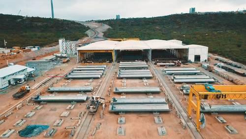 La eólica Nordex fabrica su torre de hormigón número 1.000 para sus propios aerogeneradores.