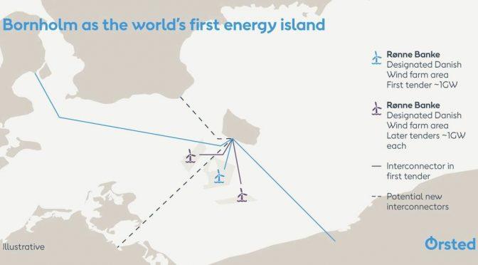 Ørsted propone una isla de energía eólica de 5 GW que una los estados bálticos