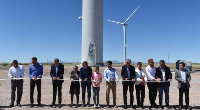 Energía eólica en Argentina, inauguraron el parque eólico García del Río