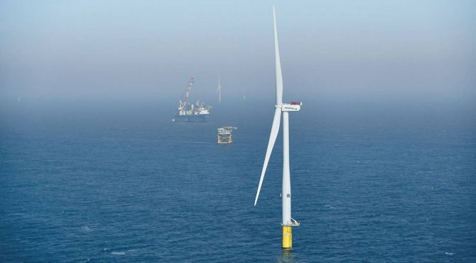 Avances en energía eólica marina