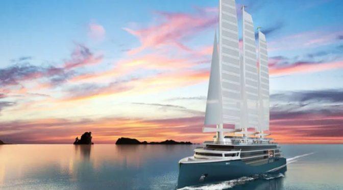 Astillero francés ultima innovador sistema de energía eólica para barcos