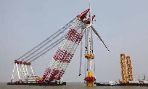 CNOOC de China lanza la primera central de energía eólica marina