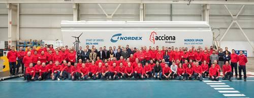 Eólica, Nordex ya fabrica aerogeneradores Delta4000 en la planta de La Vall d'Uixó en España