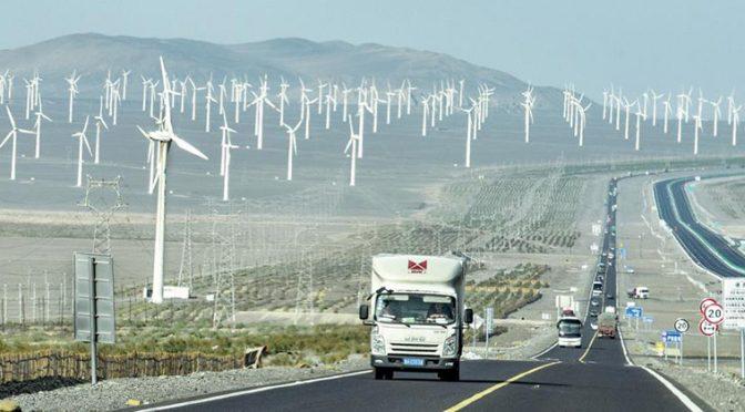 El noroeste de China recurre a más energía eólica