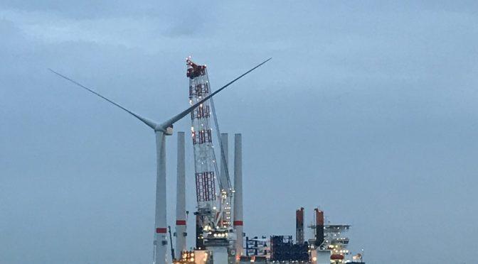 MHI Vestas instala la primera turbina eólica V164-9.5 MW en Northwester 2