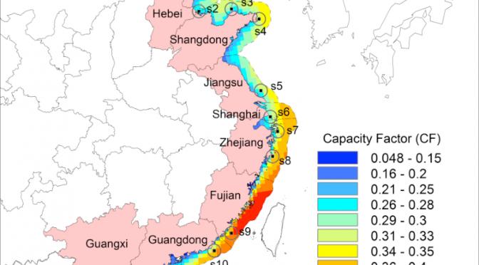 Energía eólica marina de China