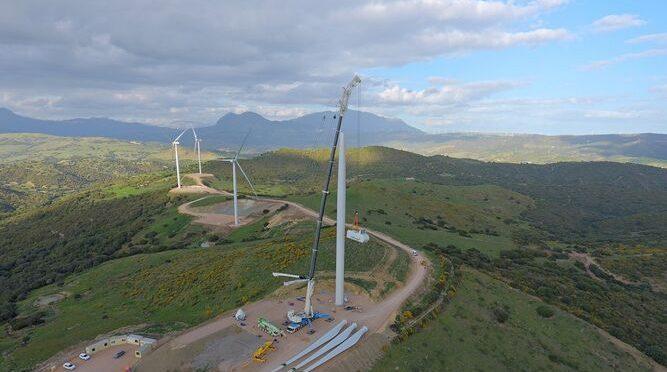 Eólica en Andalucía, parque eólico de Naturgy