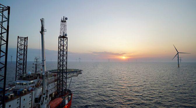 La central de energía eólica marina más grande del mundo está programado para completarse este año