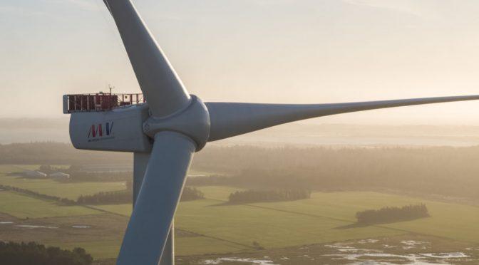 La eólica MHI Vestas instala los aerogeneradores V174-9.5 MW