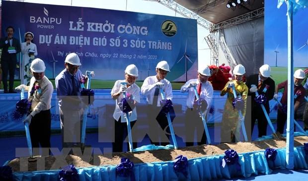 Comienza construcción de central de energía eólica en provincia vietnamita de Soc Trang