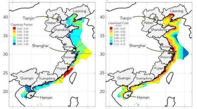 China instala mitad de nueva capacidad eólica marina mundial en 2020
