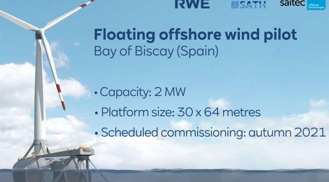 RWE Renewables y Saitec prueban plataforma eólica flotante para aerogeneradores