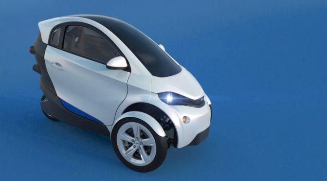 Innovador vehículo eléctrico de tres ruedas eficiente y sostenible