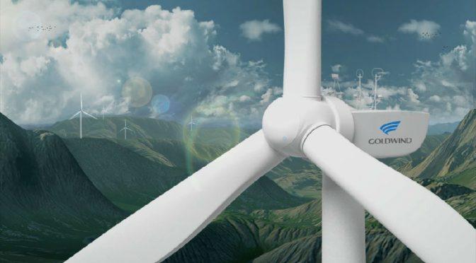 Energía eólica griega, aerogeneradores de Goldwind para parque eólico