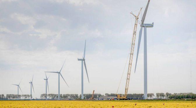 Primera parte del parque híbrido de energía eólica completada