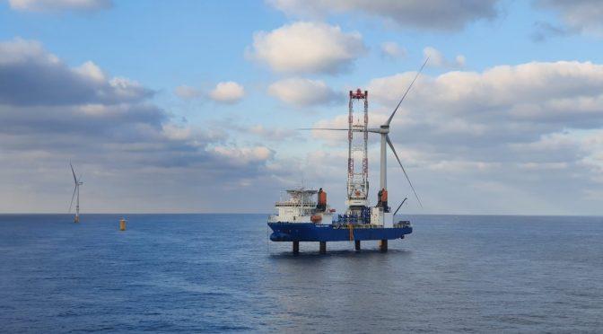 Northwester 2 completa la instalación de la turbina eólica de 9,5 MW